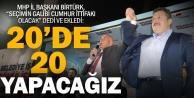 """MHPli Birtürk, 20de 20"""" dedi"""