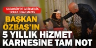 Sarayköy Belediye Başkanı Özbaş'a vatandaştan tam not
