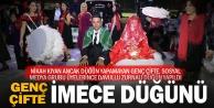 Sosyal medya grubu, genç çiftin düğün hayalini gerçekleştirdi