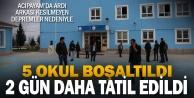 Acıpayam'da okullar 2 gün tatil edildi