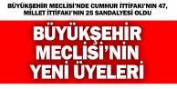 Büyükşehir Belediye Meclisinin üyeleri belli oldu
