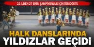 Halk Oyunları Yıldızlar kategorisi Türkiye Şampiyonası Denizlide yapıldı