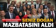Merkezefendi Belediye Başkanı Şeniz Doğan mazbatasını aldı