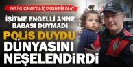 Yunus polisi, ağlayan küçük kızı sevindirdi