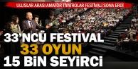 33. kez düzenlenen festivalde, 33 tiyatro oyununu 15 bin kişi izledi