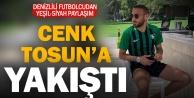 Denizlili futbolcu Cenk Tosundan Denizlispora kutlama