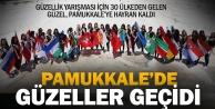 Güzeller, Pamukkale#039;ye hayran kaldı