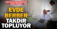Pamukkale Belediyesi, ihtiyaç sahiplerine evde berber hizmeti veriyor