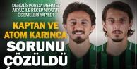 Denizlispor#039;da Mehmet ve Recep sorunu çözüldü