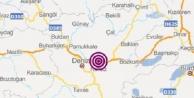 Honaz#039;da 3.3 büyüklüğünde deprem