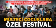 Mülteci çocuklar festivalde buluştu