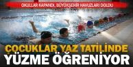 Okullar kapandı, Büyükşehir havuzları doldu