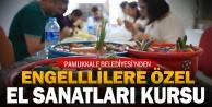 Pamukkale Belediyesi'nden engellilere destek