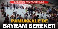 Pamukkale#039;ye ziyaretçi akını