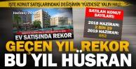 Bir yıl önce ayda 2 binden fazla konutun satıldığı Denizlide şimdi ise 652 konut satıldı