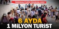 Pamukkale#039;yi 6 ayda 1 milyon kişi gezdi