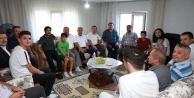 Ak Partili Özkandan eski ilçe başkanlarına ziyaret