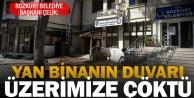 Bozkurt Belediye Başkanının makam odasının duvarı yıkıldı