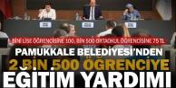 Pamukkale Belediyesi 2 bin 500 öğrenciye burs verecek