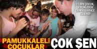 Pamukkale'de çocuklar bu yaz doyasıya eğlendi