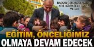 Başkan Zolan: Eğitim, önceliğimiz olmaya devam edecek