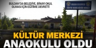Buldan Belediyesi, kültür merkezini anaokulu olması için eğitime devretti