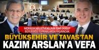 Büyükşehir ve Tavas#039;tan Kazım Arslan#039;a vefa