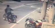 Çevreyi kontrol edip, motosikleti çaldı