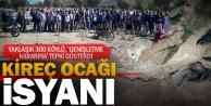 Çivril Gürpınarlılar kireç ocağının genişletilmesi kararını protesto etti