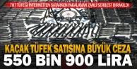 Silah operasyonunda yakalanan kişiye 550 bin lira ceza