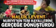 AHBAP sayesinde biyonik ele kavuşan Nuriye Haluk Levent ile sahnede idi