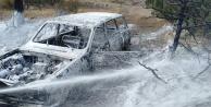 Çameli'de yanan otomobil ormanı yakıyordu