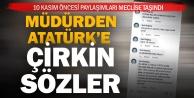 Denizlili müdürden Atatürke hakaret