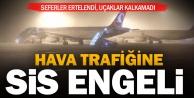 Sis nedeniyle Çardak Havaalanında trafik aksadı