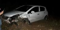 Çivril'de domuz sürüsüne çarpan otomobildeki 4 kişi yaralandı