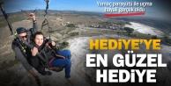 Engelli genç kızın yamaç paraşütü hayali Pamukkale'de gerçek oldu