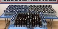 Kamyonetten 484 şişe kaçak içki ele geçirildi