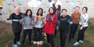 Öğrenciler, ana sınıfı bahçesini renklendirdi