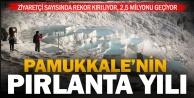 Pamukkale ziyaretçi rekoru kırıyor: yıllık 2,5 milyon turist