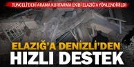 Elazığ#039;daki yıkıcı deprem bölgesine Denizliden kurtarma ekibi gönderildi