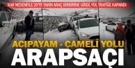 Kar yağışı Çameli-Acıpayam yolunda işkenceye dönüştü