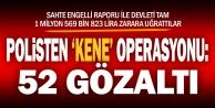 Sahte engelli raporu alan çeteye ve uyanıklara operasyon: 52 gözaltı