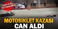 Çivrilde minibüsle çarpışan motosikletin sürücüsü öldü