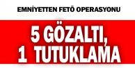 FETÖ operasyonunda yakalanan 5 şüpheliden 1#039;i tutuklandı