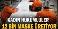 Bozkurt'ta kadın hükümlüler maske üretiyor