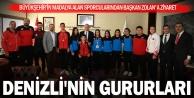 Büyükşehir sporcularından Başkan Zolan#039;a ziyaret