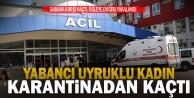 Korona karantinasından kaçan yabancı uyruklu kadın yakalandı