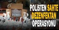 Polisten sahte dezenfektan operasyonu: 3 gözaltı