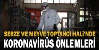 Sebze ve Meyve Toptancı Halinde koronavirüs önlemleri