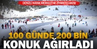 Denizli Kayak Merkezi 100 günde 200 bin ziyaretçiyi ağırladı